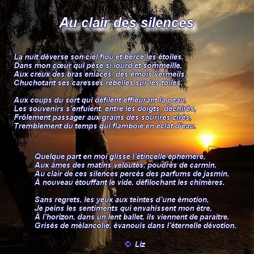Au clair des silences